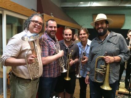 Banda Nueva York in the Studio