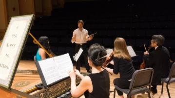 rehearsing Telemann