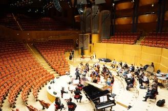 rehearsing at Kölner Philharmonie