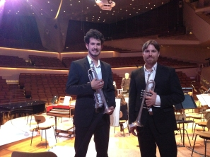 on stage at the Philharmonie, Berlin